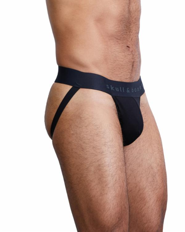 SKULL AND BONES CLASSIC JOCKSTRAP - Black