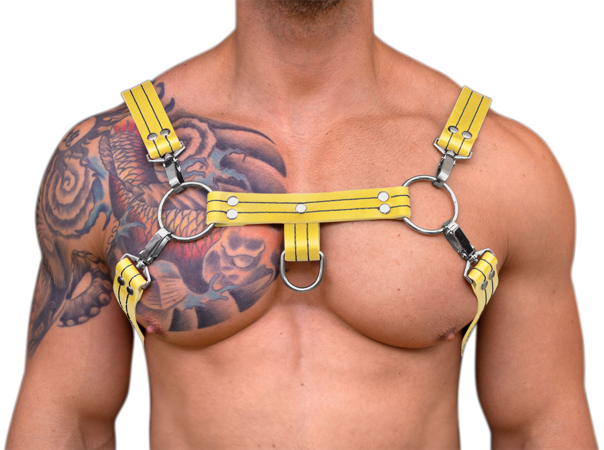 STRONG PUP H-STYLE LEATHER THICK STITCHED THREAD CHEST HARNESS