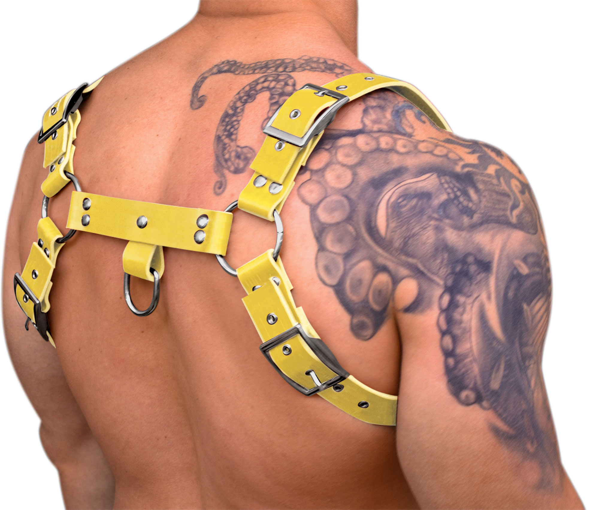 STRONG PUP 8-STYLE WIDE LEATHER HARNESS