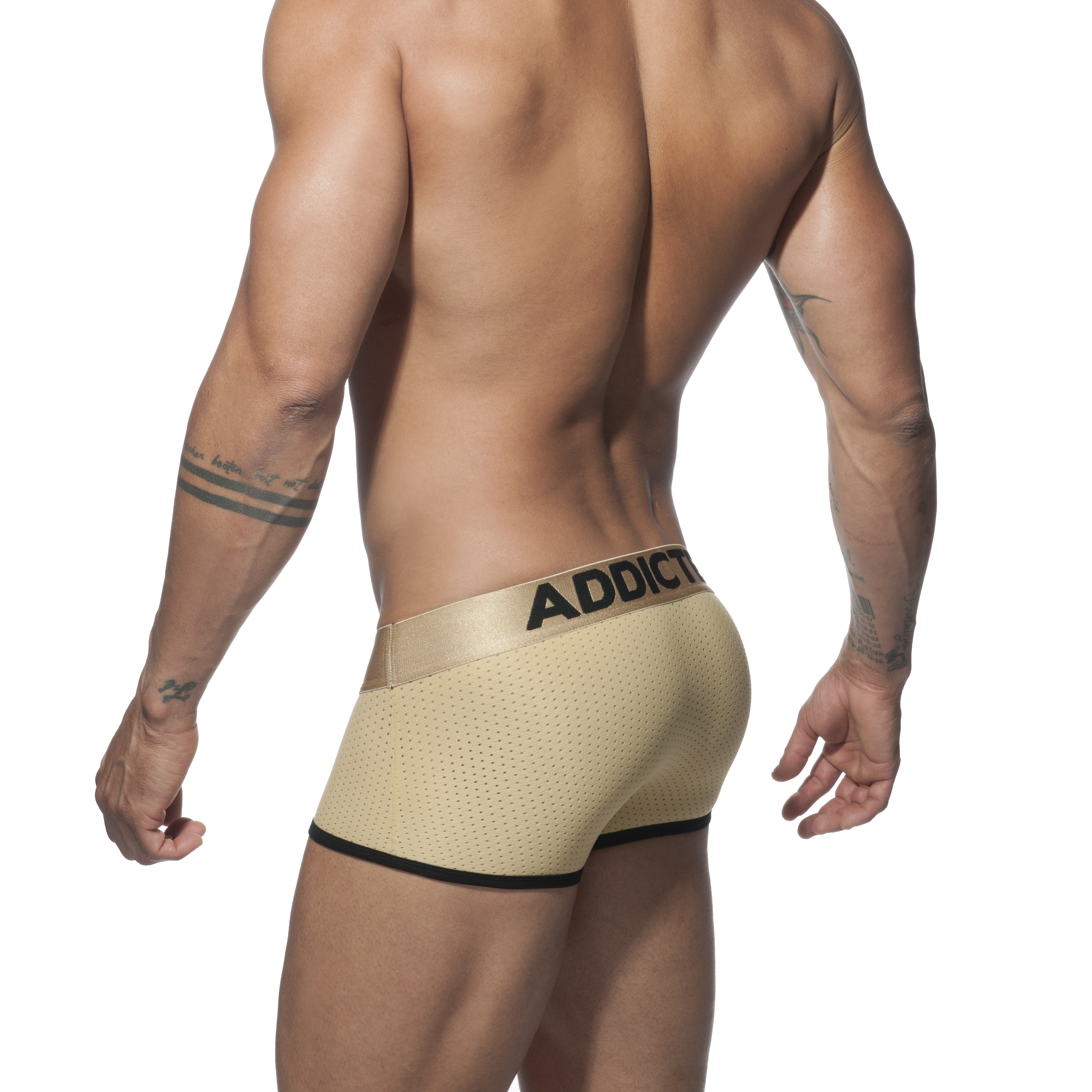 ADDICTED GOLD MESH BOXER - Gold