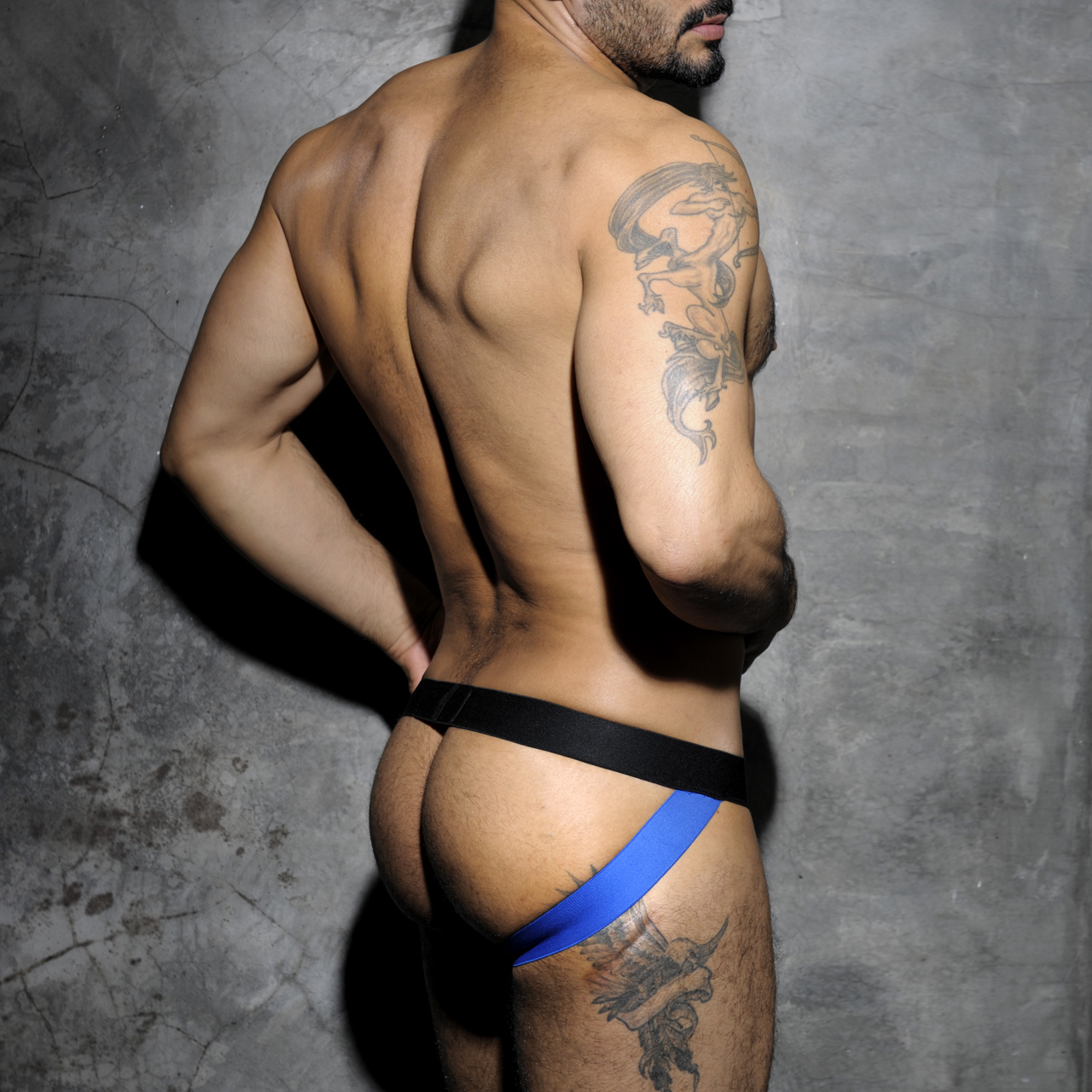 ADDICTED FETISH MESH JOCKSTRAP - Blue