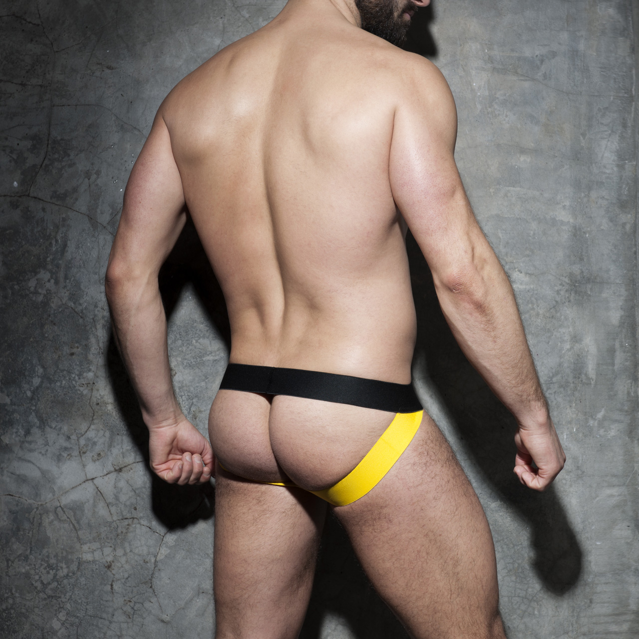 ADDICTED FETISH ZIPPER CAMO JOCK - Yellow