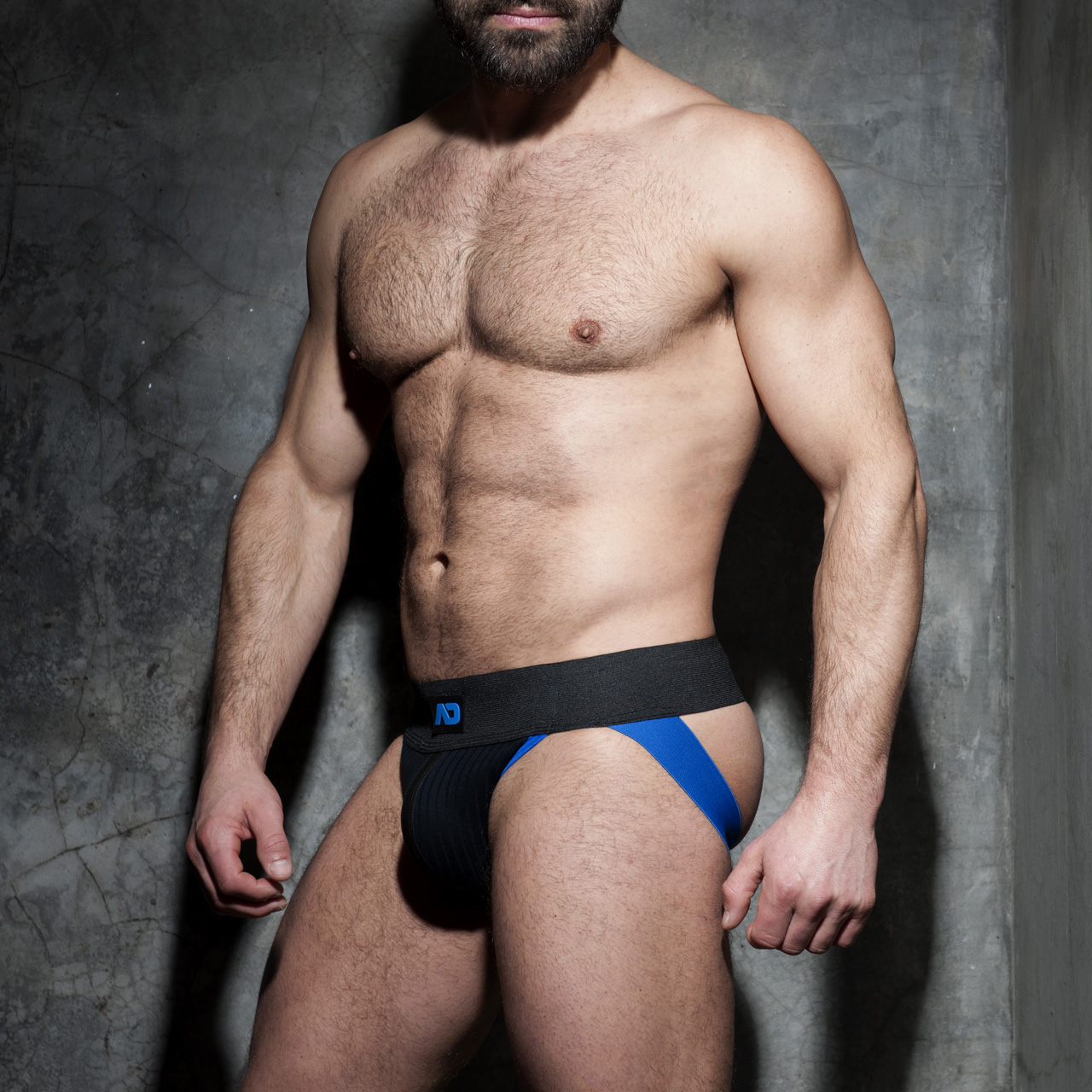 ADDICTED FETISH RIB JOCK - Royal Blue