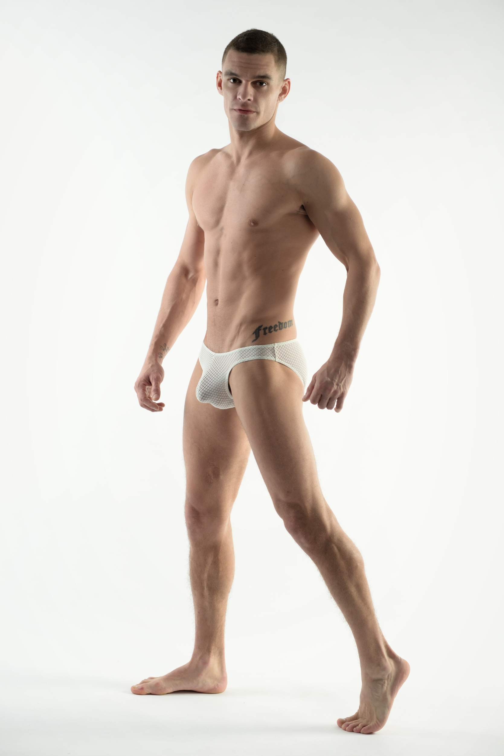 DMXGEAR LOVE BOY WHITE LACE BRIEF