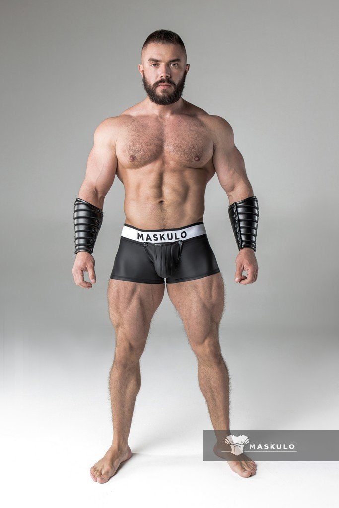 MASKULO ARMORED FETISH RUBBER LOOK TRUNK - Black