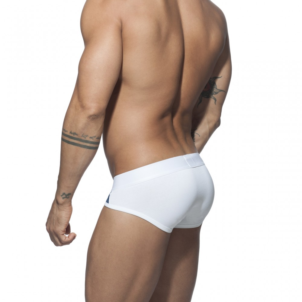 ADDICTED VELVET COMBI BRIEF - White