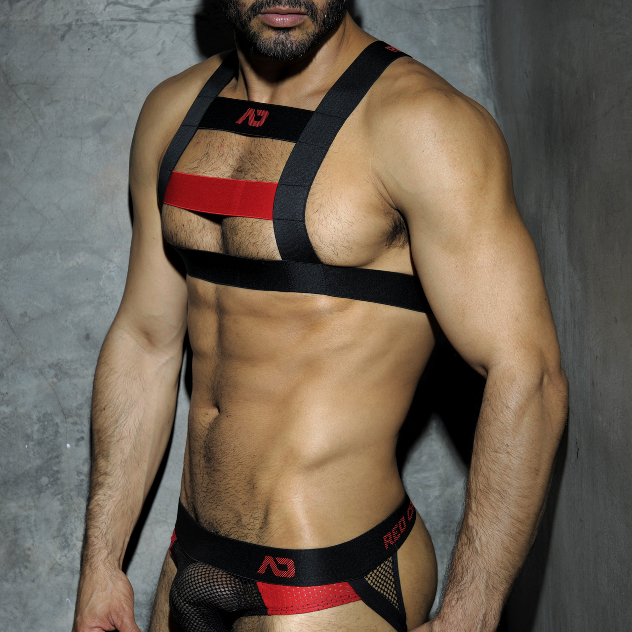 ADDICTED FETISH CODES RUBBER HARNESS - Red