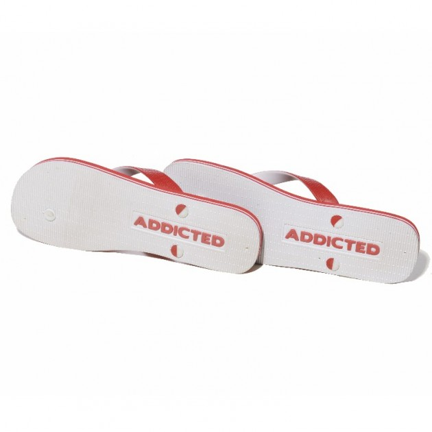 ADDICTED TWO-TONE FLIP FLOPS - Red